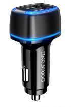 Автомобильное зарядное устройство BOROFONE BZ14 Max с подсветкой (2 US