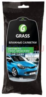 Салфетка влажная для автомобиля для стекол, зеркал и фар Грасс GRASS 1/16