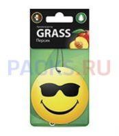 Ароматизатор картонный для автомобиля СМАЙЛ персик Грасс GRASS /50