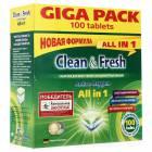 Таблетки для ПММ Clean&Fresh All in 1, 100 таб.