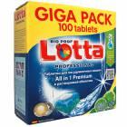Таблетки для ПММ LOTTA All-in-1 GIGA PACK 100 таб.