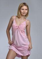 """Ночная сорочка """"Николь"""" - премиум (светло розовый)"""