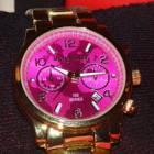 Часы MK розовый циферблат