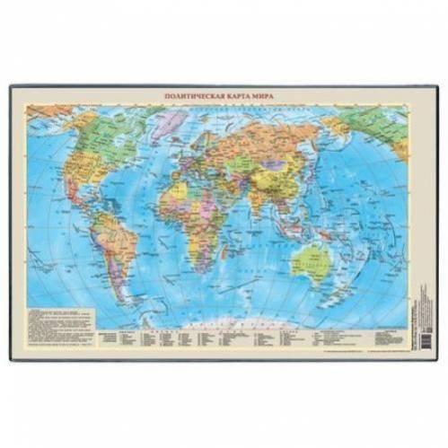 """Подкладка для письма 38х59 см """"Карта мира"""" 2129.М ДПС {Россия}"""