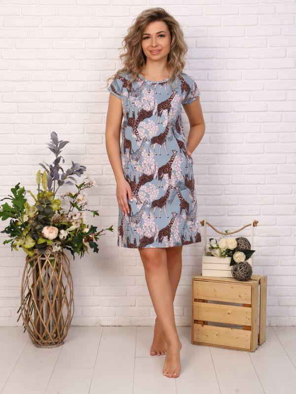 "Платье женское ""Карамель"" жираф"