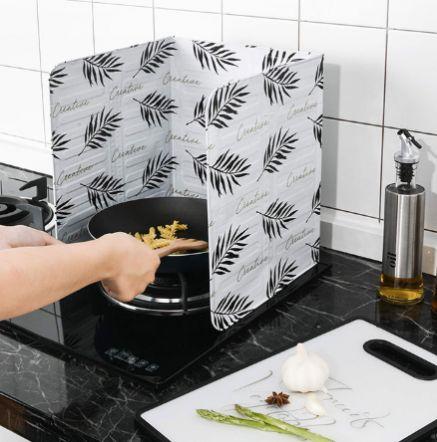 Защитный экран от брызг для плиты (3 откидных панели)