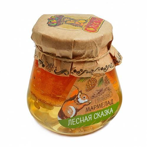 Мармелад в банке «Лесная сказка» (кедровые орешки, сосновые шишки), 300г