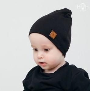ВО-116чрн Двухслойная трикотажная шапка HoH, черный