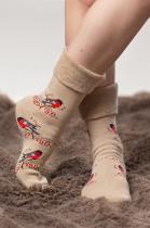 Махровые носки с отворотом
