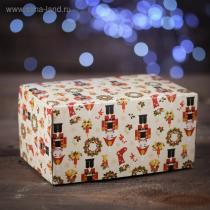 """Коробка на 2 капкейка """"Щелкунчик"""", 16 х 10 х 8 см"""