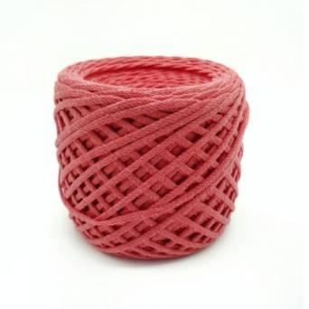 Хлопковый шнур 3 мм. Цвет: Коралл