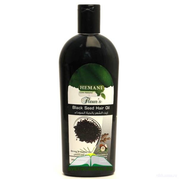 Масло для волос Hemani Black Seed (черный тмин) 200 ml