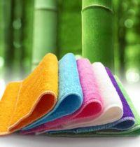Набор бамбуковых салфеток для мытья посуды (4 шт.), 22*18 см