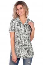 Женская блузка с nфлористичным принтом