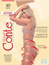 Active Soft 40 колготки жен.`шортики, х/б ластовица, распределенное давление