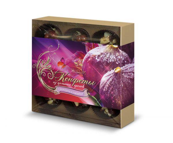 Конфеты из цельных орехов с инжиром и папайей, 145 г (картонная упаковка)