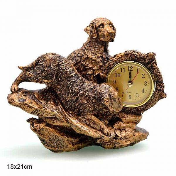 Часы статуэтка Собака 21x17 - 1200A -уп 36- ПРОМО АКЦИЯ