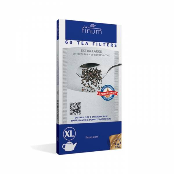 Фильтры для чая отбеленные, размер XL (уп. 60 шт.)
