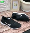 Мужские кроссовки 9019-1 N черно-белые