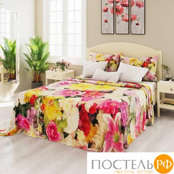 Плед экстрасофт 150*195 Яркое цветочное великолепие