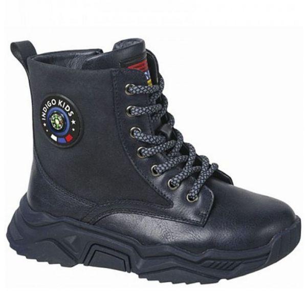 55-0021B син Ботинки деми для мальчиков